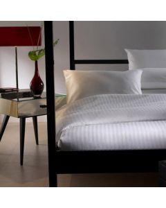 Hotelkwaliteit Beddengoed katoen 250TC 10mm sat.streep